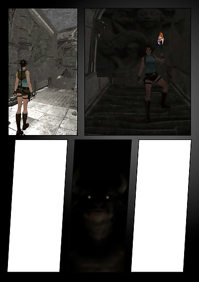 Lara Croft Vs The Minotaurus..