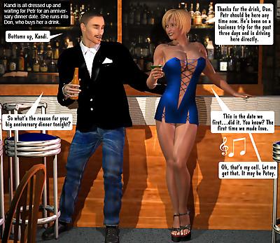 Hot Wife in Blue Dress