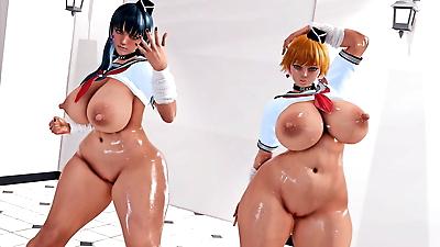 Asagi and Sakura